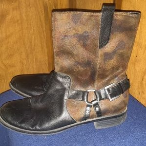 Aerosols Brown and Black Harness Ankle Boots Sz 11
